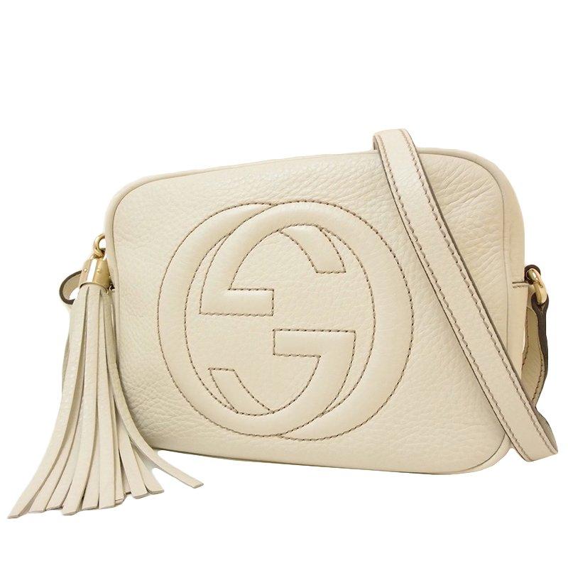 fb6993afbea ... Gucci White Pebbled Leather Soho Disco Shoulder Bag. nextprev. prevnext