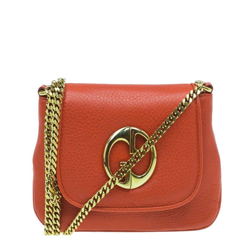 e97e9386fcbd1c ... Gucci Orange Leather Small 1973 Chain Crossbody Bag. nextprev. prevnext