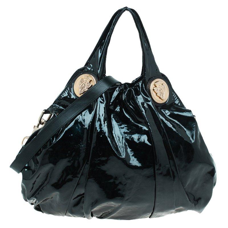 2206e8ce557 ... Gucci Black Patent Leather Large Hysteria Hobo. nextprev. prevnext