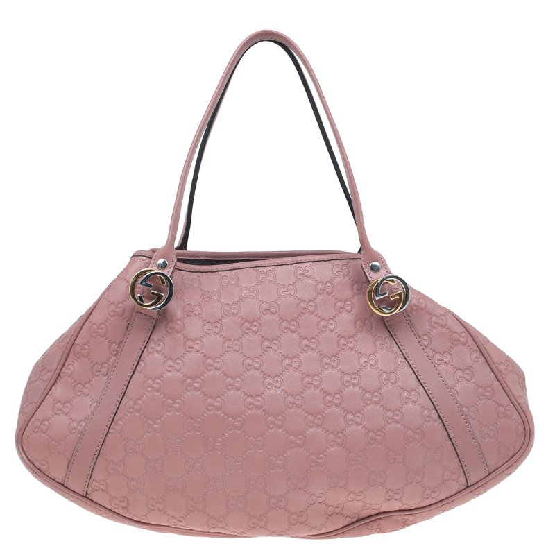 3a733492dcf5 ... Gucci Pink Guccissima Leather Medium GG Twins Tote. nextprev. prevnext