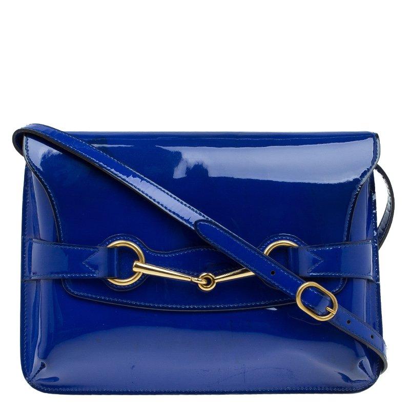 9df2816c40d ... Gucci Blue Patent Leather Bright Bit Shoulder Bag. nextprev. prevnext