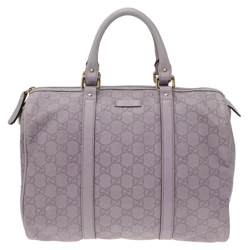 fc7b2aa353fc Buy Gucci Lilac Guccissima Leather Medium Joy Boston Bag 58205 at ...