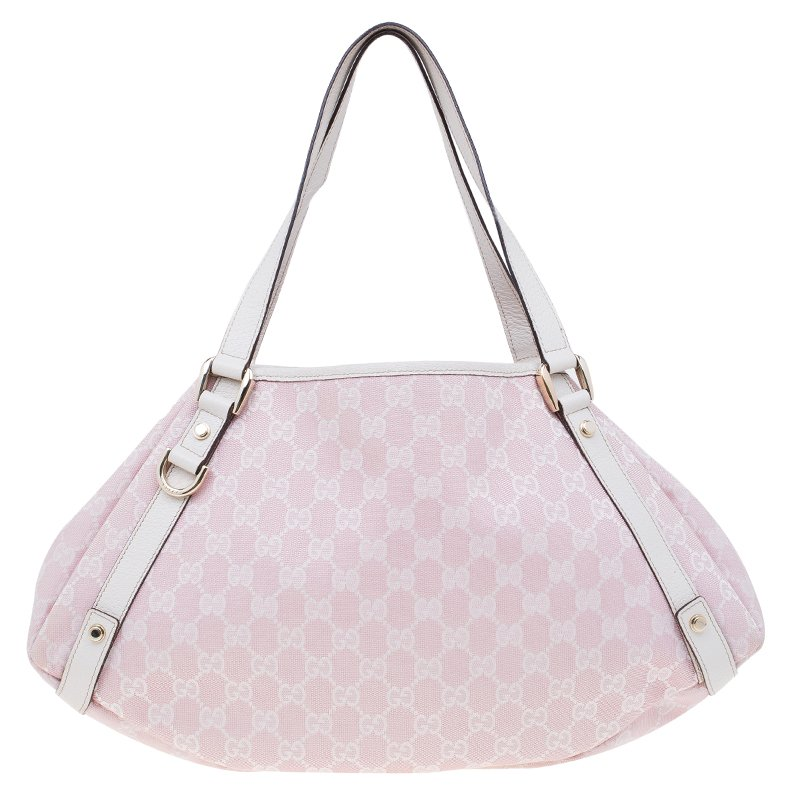251616f46916 Buy Gucci Pink GG Canvas Medium Abbey Shoulder Bag 60467 at best price