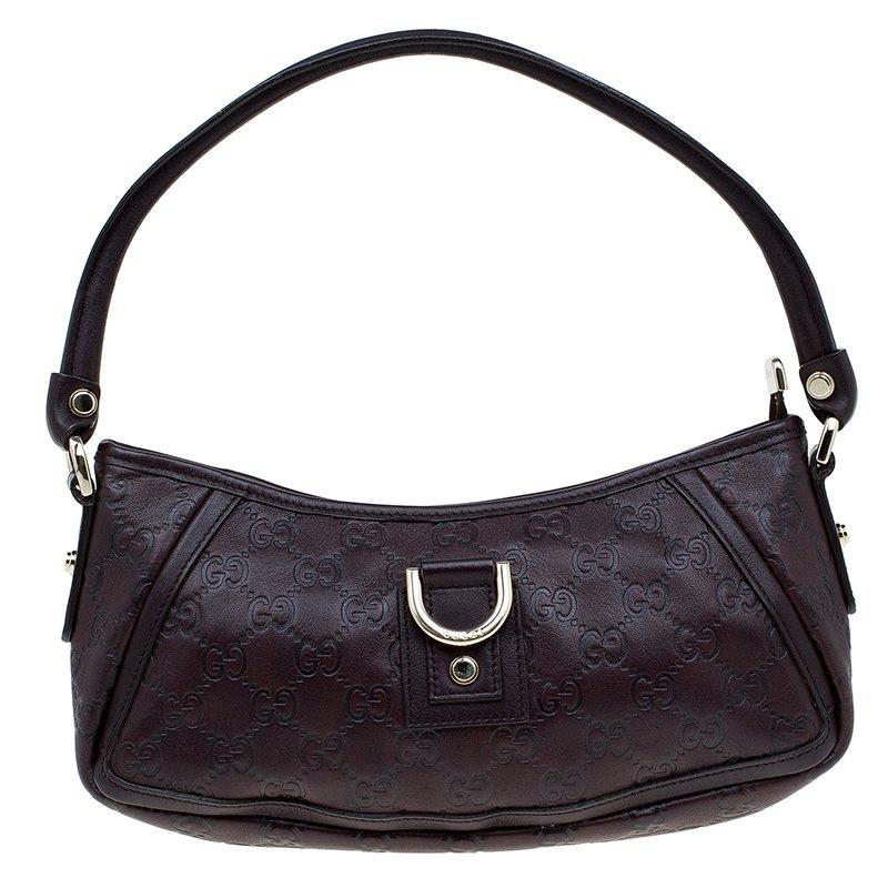 d5aa840b5c5 ... Gucci Dark Brown Guccissima Leather Abbey D Ring Pochette Bag.  nextprev. prevnext