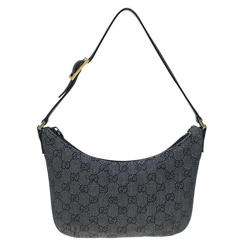 cdfe71d16c26 Buy Gucci Black GG Denim Pochette Bag 61030 at best price | TLC