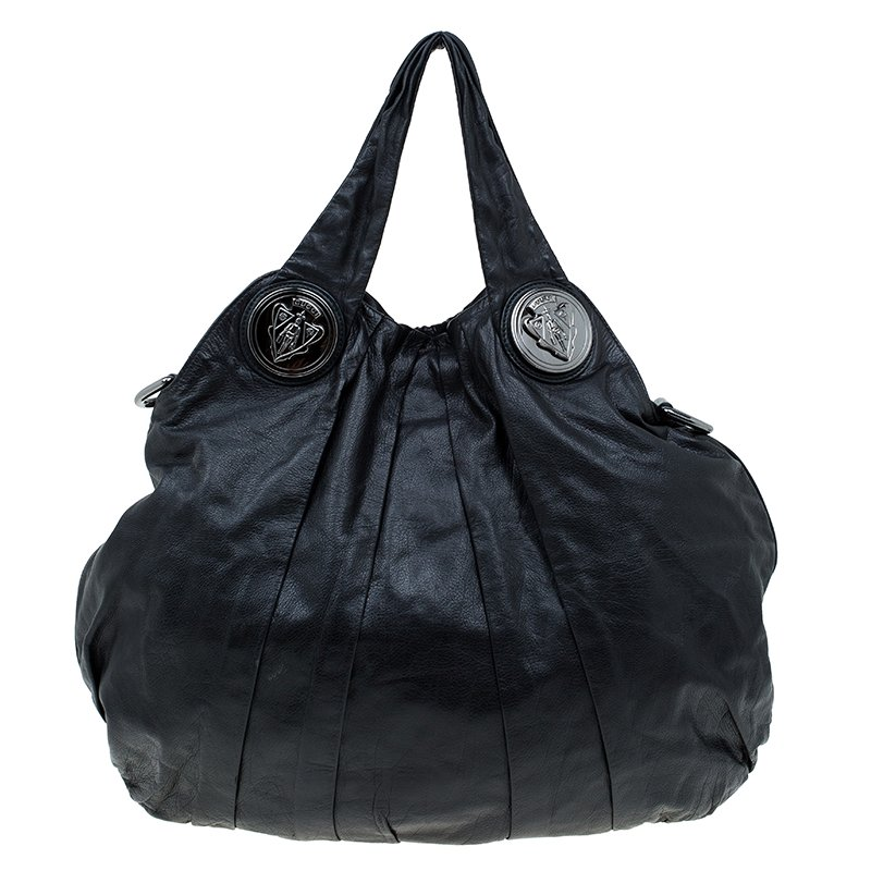 23168d5839c Buy Gucci Black Leather Large Hysteria Hobo 61038 at best price