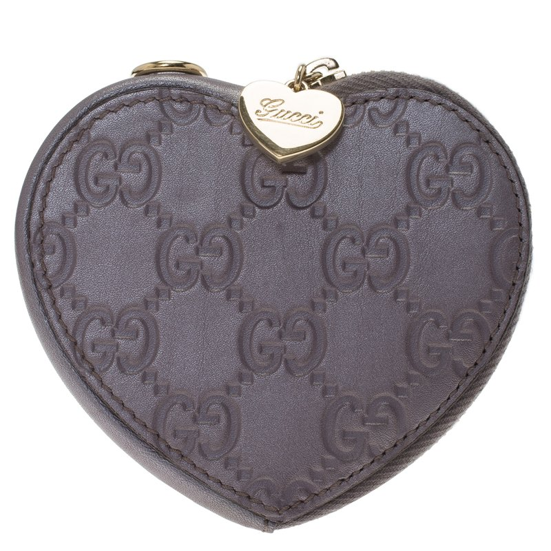 aacf6a83393 ... Gucci Lilac Guccissima Leather Heart Shape Coin Purse. nextprev.  prevnext