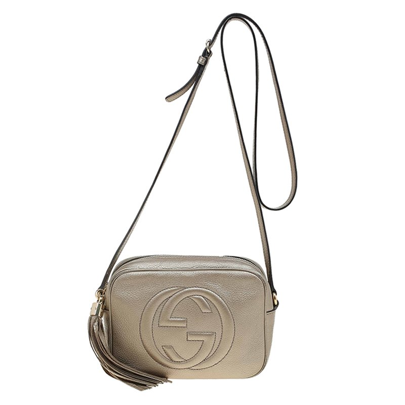1c29ed0627da8d ... Gucci Matte Gold Leather Soho Disco Crossbody Bag. nextprev. prevnext