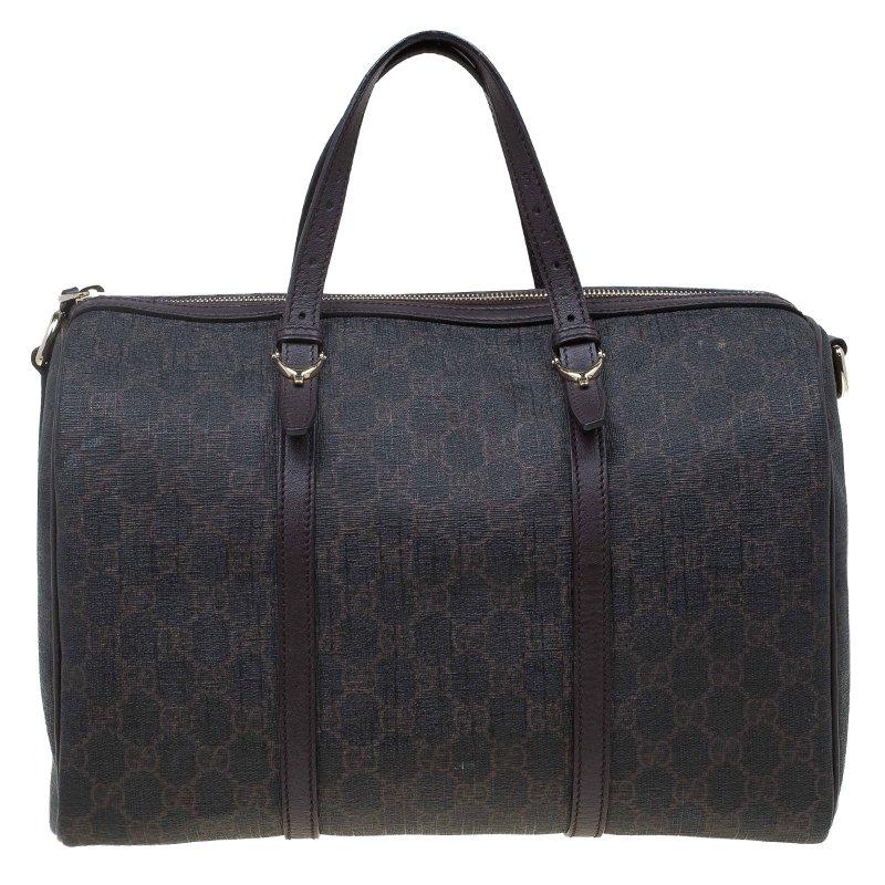 02609caa0da ... Gucci Brown Nice GG Supreme Canvas Boston Bag. nextprev. prevnext