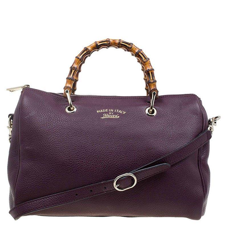 c29bbd75360 ... Gucci Burgundy Pebbled Leather Medium Bamboo Boston Bag. nextprev.  prevnext