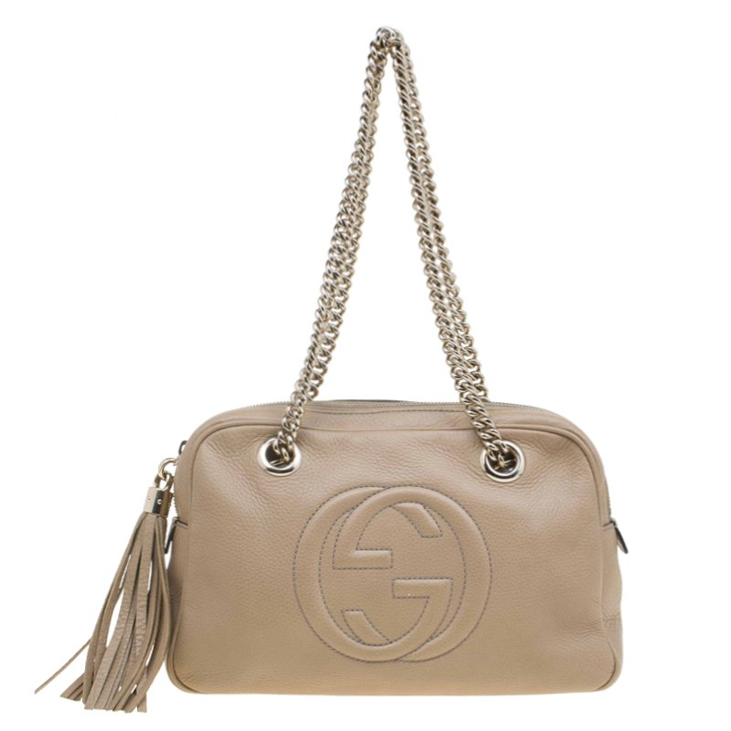 be409df7aaa ... Gucci Beige Leather Medium Soho Chain Shoulder Bag. nextprev. prevnext
