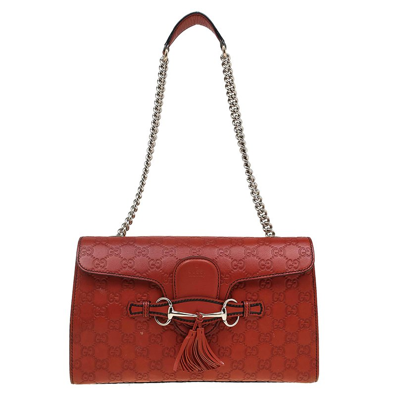 ... Guccissima Leather Medium Emily Chain Shoulder Bag. nextprev. prevnext