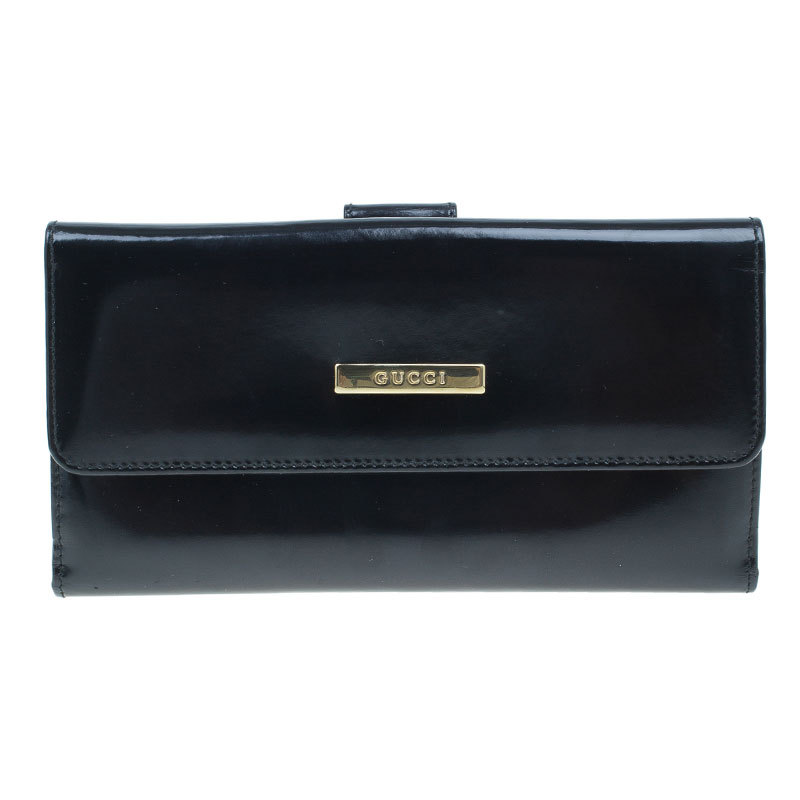 d930de69b577 ... Shoulder Bag A. Gucci Black Patent Leather Continental Wallet Nextprev  Prevnext. Gucci Black Patent Leather Continental Wallet 69 At Best Tlc