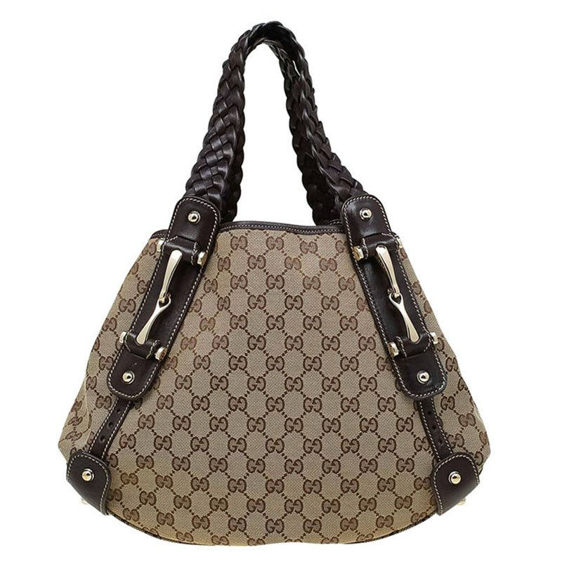 3083dda4d747 ... Gucci Beige/Ebony GG Canvas Medium Horsebit Pelham Shoulder Bag.  nextprev. prevnext