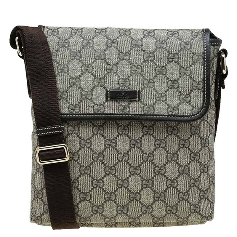 135710b6bff Gucci Beige Gg Supreme Coated Canvas Messenger Bag 70121 At Best