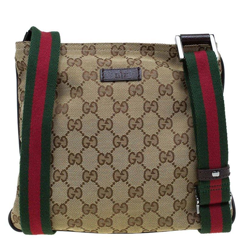 5be075cd367 ... Gucci Beige GG Canvas Small Vintage Web Messenger Bag. nextprev.  prevnext