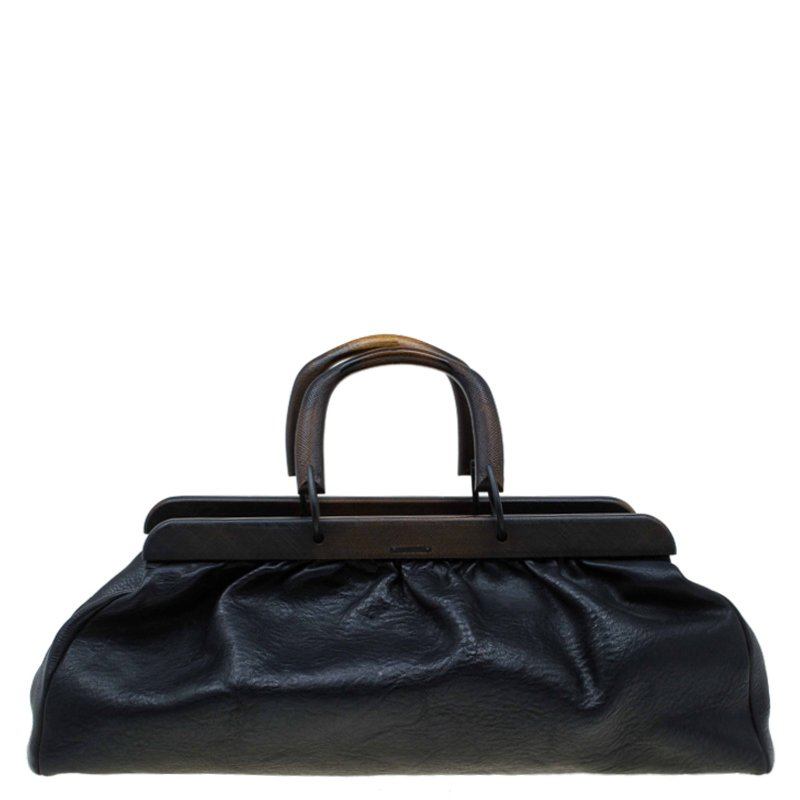 Buy Gucci Black Leather Tom Ford Doctor bag 74273 at best price  e3e05d03f