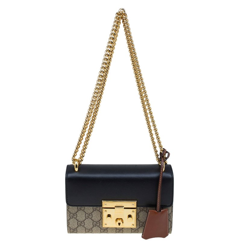 ad2a1c434144 Buy Gucci Tri Color GG Supreme Canvas and Leather Padlock Shoulder ...