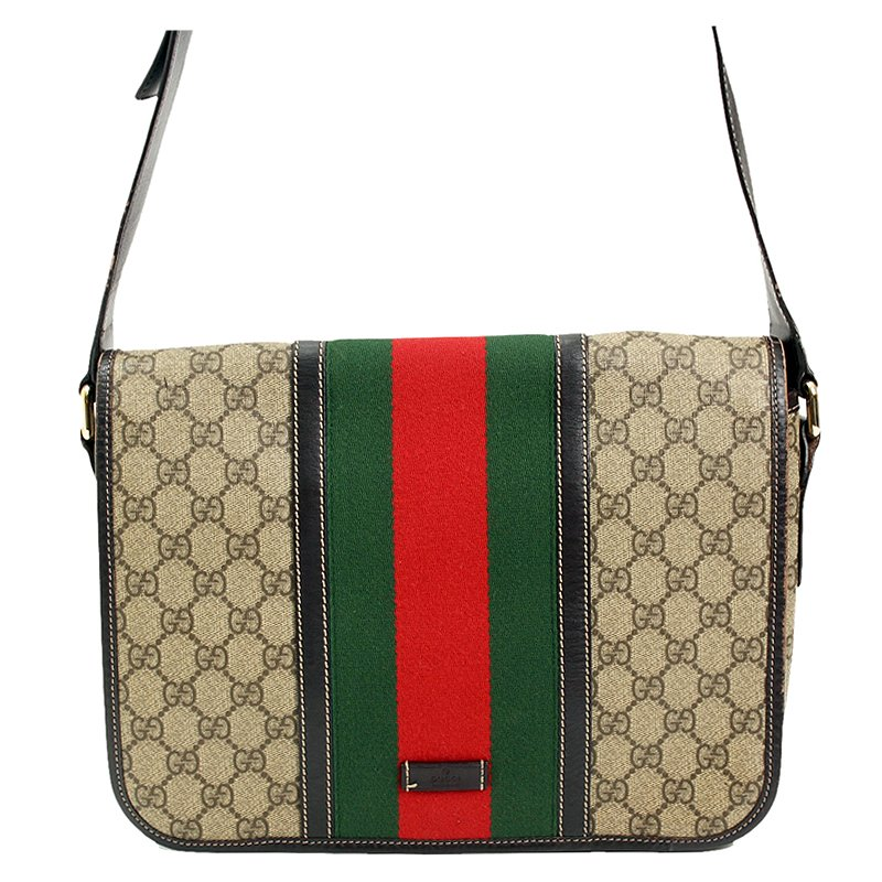 f8e03921eda8 Buy Gucci GG Plus Canvas Web Messenger Bag 80833 at best price | TLC
