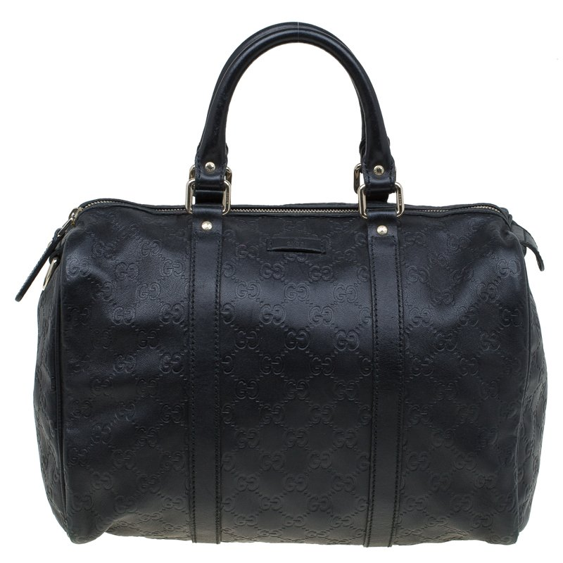 b552ec8171c ... Gucci Black Guccissima Leather Medium Joy Boston Bag. nextprev. prevnext
