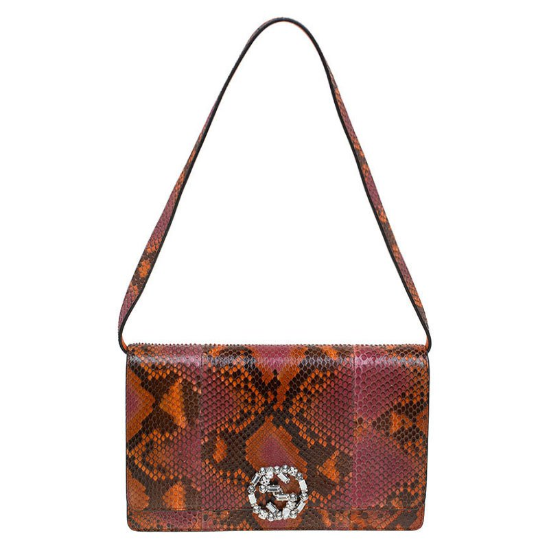 cde26790c9b ... Gucci Multicolor Python Broadway Crystal Logo Shoulder Bag. nextprev.  prevnext