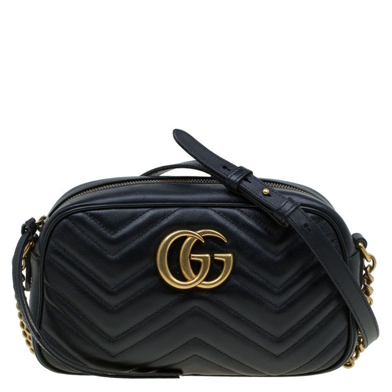 b37b8bcc7 ... Gucci Black Matelassé Leather Mini GG Marmont Crossbody Bag. nextprev.  prevnext