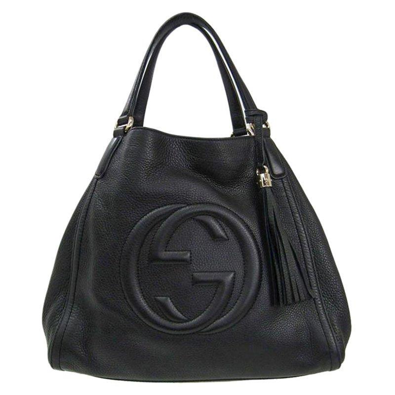 474611e1473 ... Gucci Black Pebbled Leather Medium Soho Shoulder Bag. nextprev. prevnext