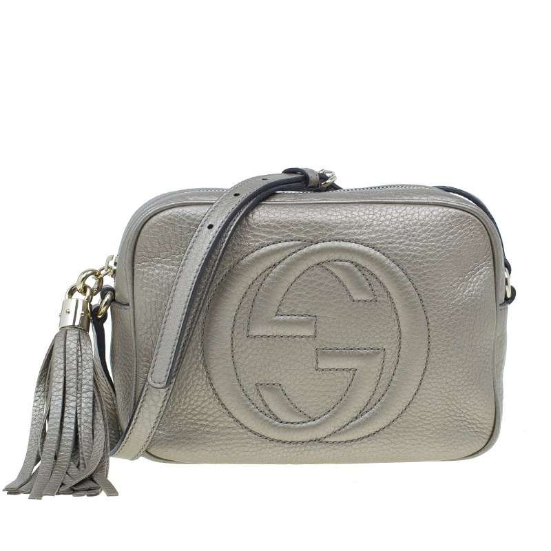Buy Gucci Gunmetal Leather Soho Disco Bag 978 at best price  78feab30a