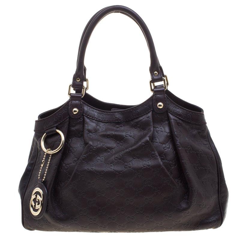 e4f9b36ec89 ... Gucci Dark Burgundy Guccissima Leather Medium Sukey Tote. nextprev.  prevnext