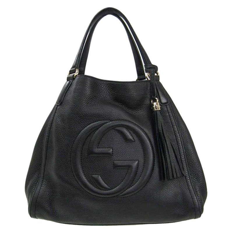 151bef30ab5 ... Gucci Black Pebbled Leather Medium Soho Shoulder Bag. nextprev. prevnext