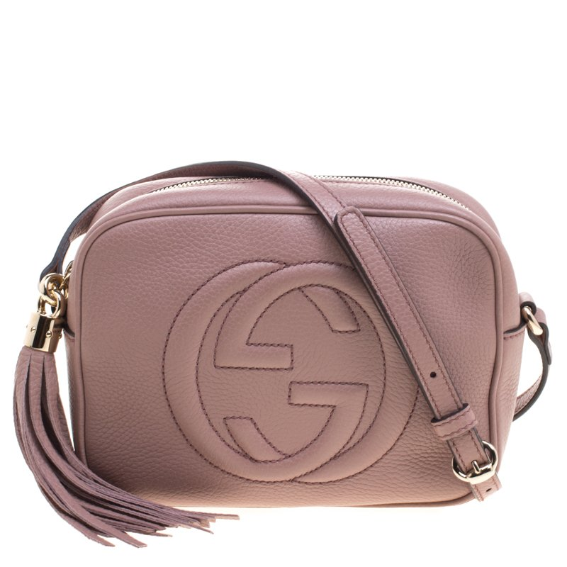 560d315eed0 ... Gucci Beige Pebbled Leather Small Soho Disco Shoulder Bag. nextprev.  prevnext