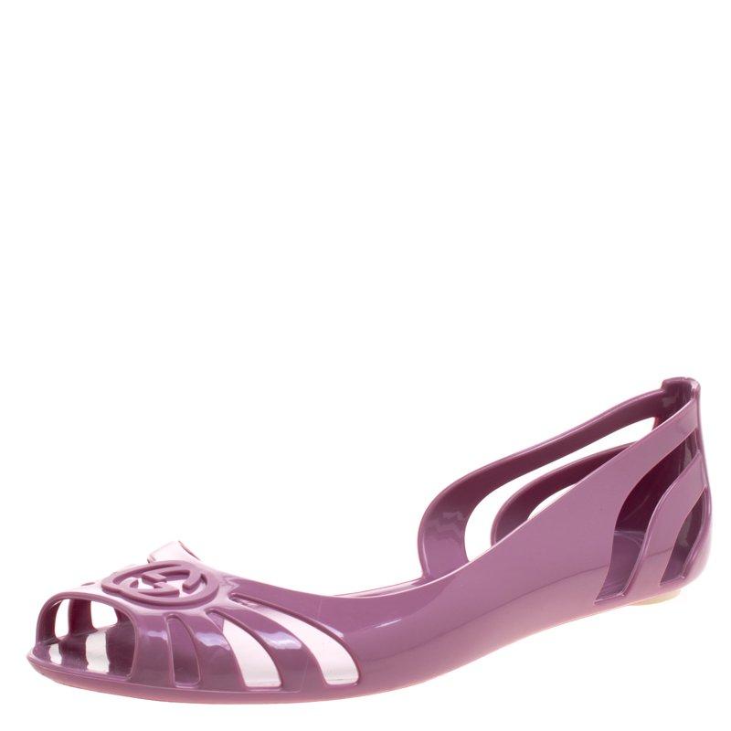 8b4cb1f65 ... Gucci Blush Pink Jelly Interlocking GG Marola Jelly Ballet Flats Size  36. nextprev. prevnext