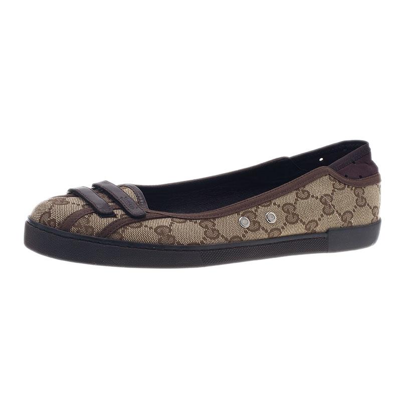 8118e1950 ... Gucci Beige Guccissima Canvas Ballet Flats Size 38.5. nextprev. prevnext