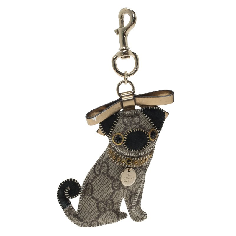6fb743f3ad4 ... Gucci Brown GG Supreme Oliver Pug Dog Bag Charm. nextprev. prevnext