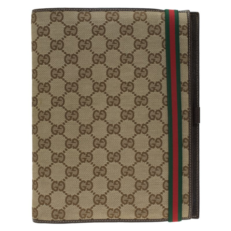 26a2add23e8b68 Buy Gucci Beige Guccissima Canvas and Leather Agenda 58934 at best ...