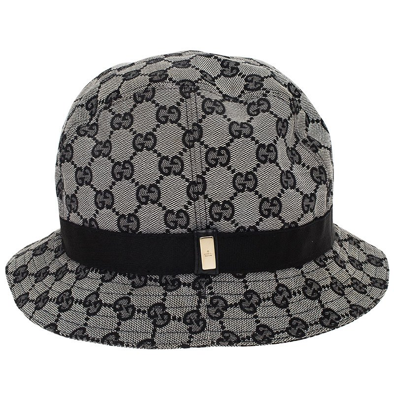 Buy Gucci Grey GG Monogram Bucket Hat Size M 69419 at best price  832324e89b3
