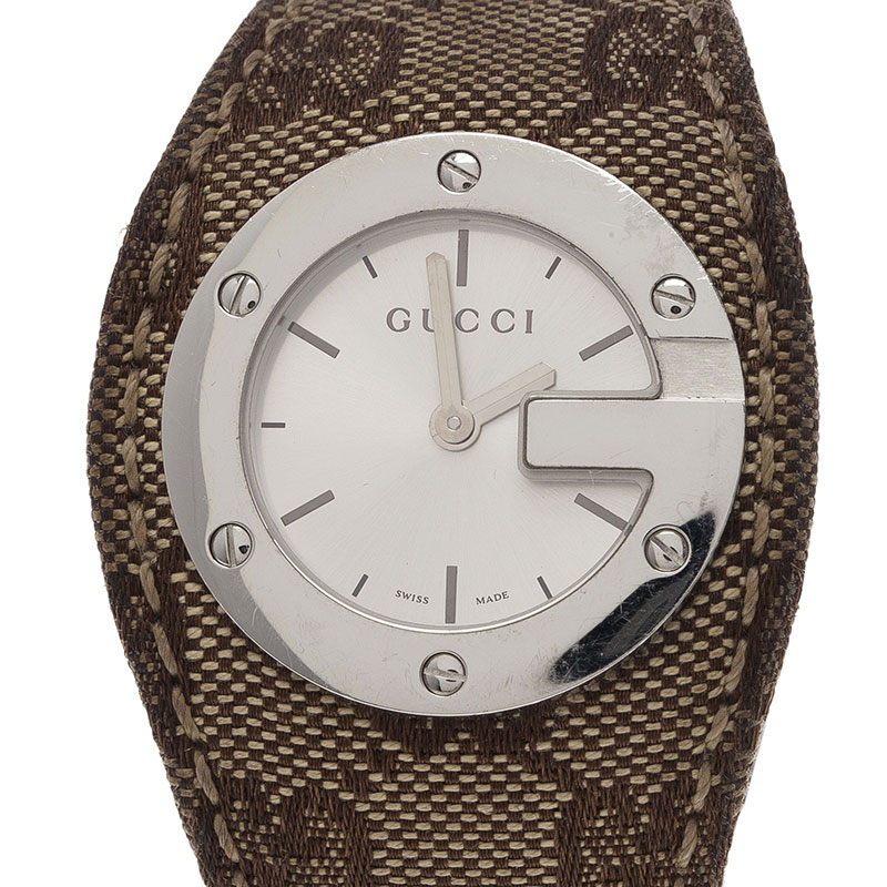 8b89aa9d892 ... Gucci White Stainless Steel U Play Canvas Women s Wristwatch 31MM.  nextprev. prevnext