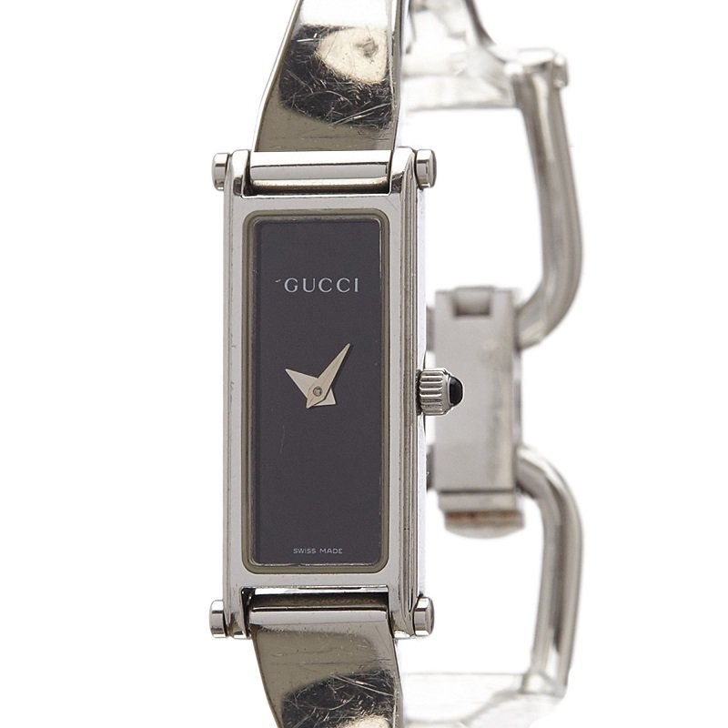 5bc292299b7 ... Gucci Black Stainless Steel 1500L Women s Wristwatch 12MM. nextprev.  prevnext