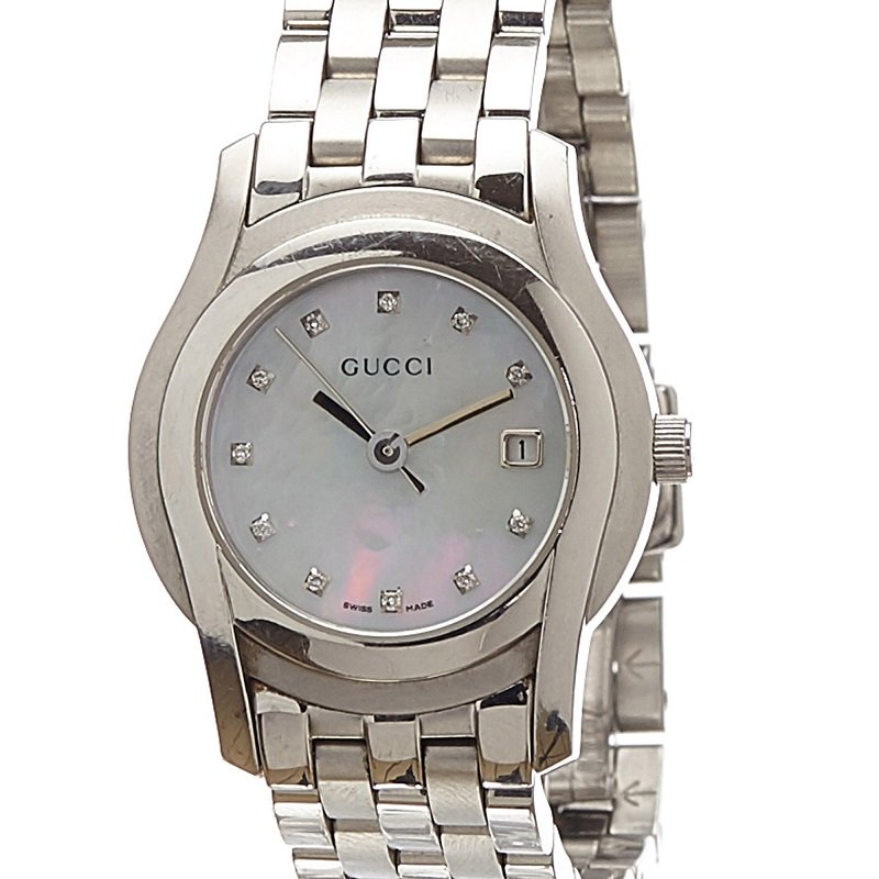 c770c648d88 ... Gucci Mother of Peral Stainless Steel 5500L Women s Wristwatch 27MM.  nextprev. prevnext