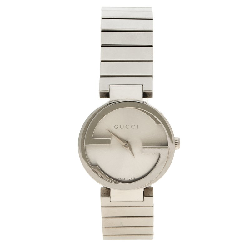 5fa70f8d3ca Buy Gucci Silver Stainless Steel 133.5 Women s Wristwatch 29MM 99351 ...