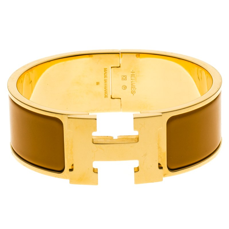 7ed9788820e518 ... Hermes Clic Clac H Orange Enamel Gold Plated Wide Bracelet PM.  nextprev. prevnext