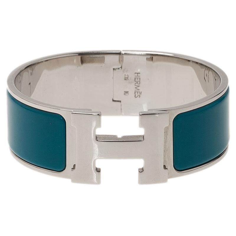 ca30757d41 ... Hermes Clic Clac H Wide Duck Blue Enamel Palladium-Plated Bracelet PM.  nextprev. prevnext