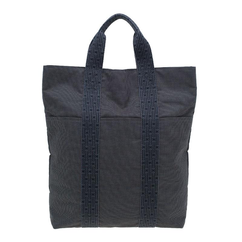prix compétitif 17987 49b3c Hermes Herline Canvas Cabas Shopper Tote Bag