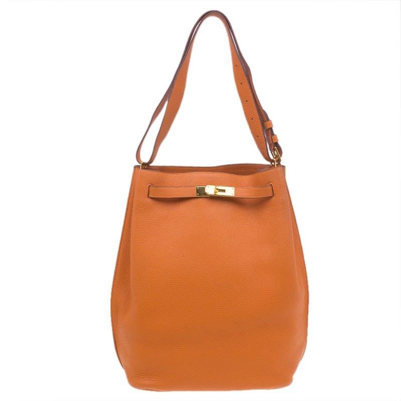 746acc6ed3f1 Buy Hermes Orange Togo Leather Gold Hardware So Kelly 26 cm Bag ...