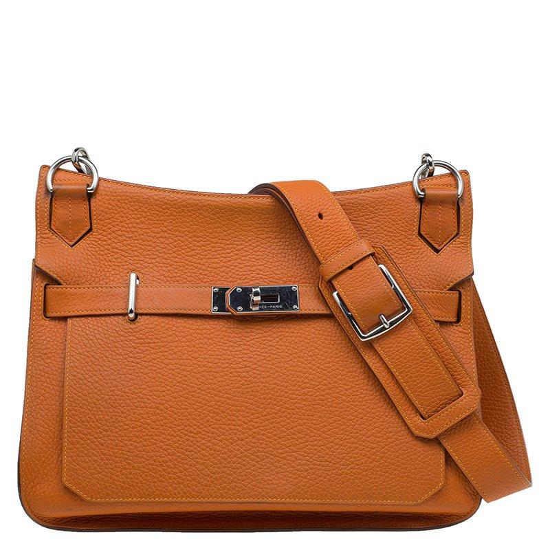 bde9c0966d1e ... Hermes Orange Taurillon Clemence Leather Jypsiere 34 Bag. nextprev.  prevnext