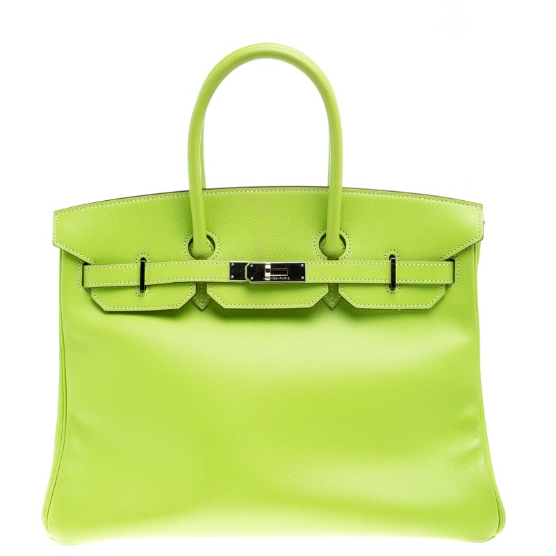 5e2a9282bf7e Buy Hermes Kiwi Epsom Leather Palladium Hardware Birkin 35 Bag 99044 ...