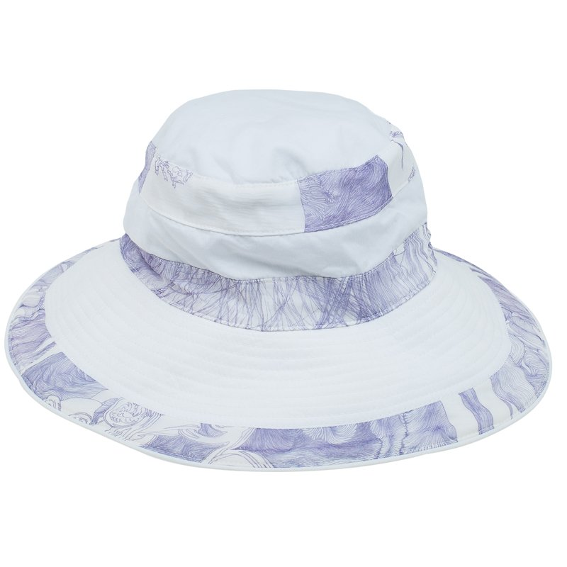f3c89e71d412a8 Buy Hermes Purple and White Linen Fedora Size 56 56285 at best price ...