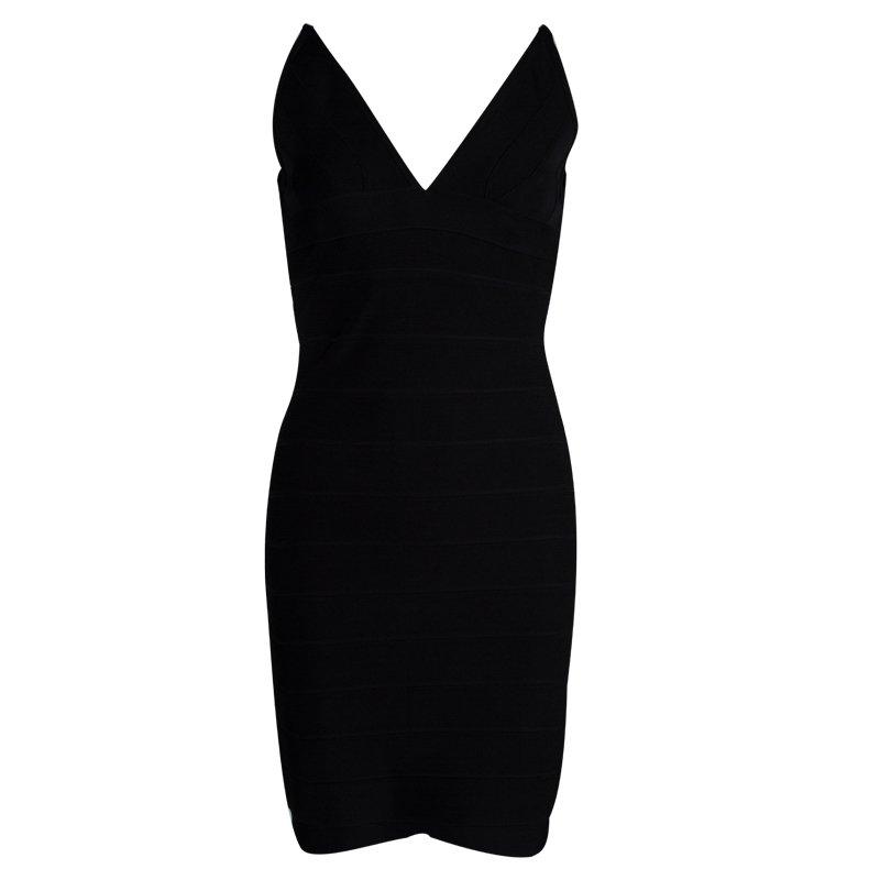 fc4406b05c66 Buy Herve Leger Black Sleeveless Lauren Bandage Dress M 80685 at ...