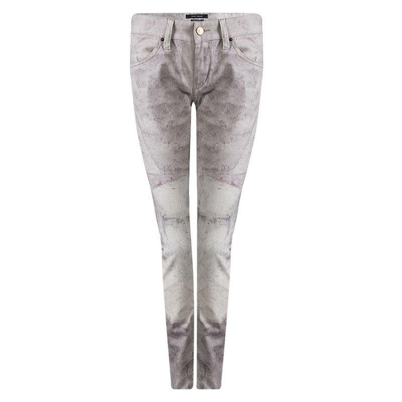 475350f847 Buy Isabel Marant Off White Printed Low Rise Skinny Viktor Jeans M ...