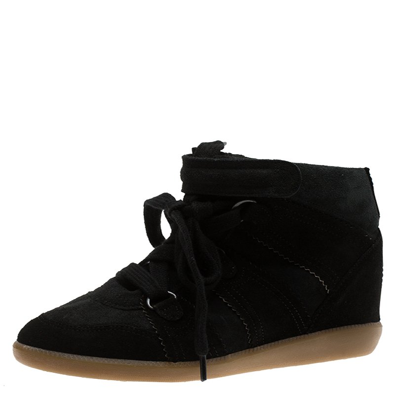11a78650189 ... Isabel Marant Black Suede Bobby Wedge Sneakers Size 37. nextprev.  prevnext